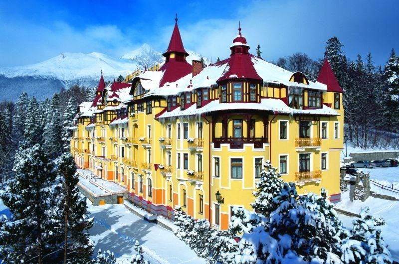Grandhotel Praha **** - Tatranská Lomnica - exteriér - zima - Grandhotel Praha -